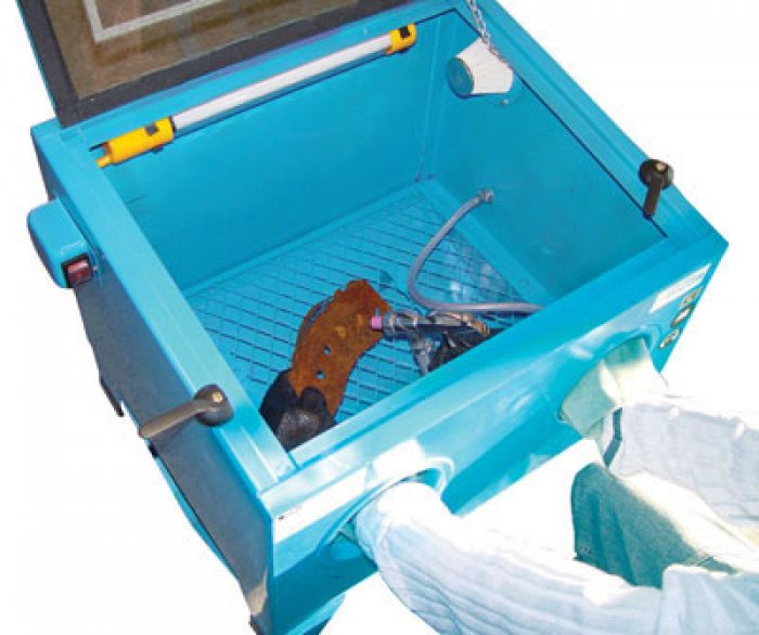 Cabine de sablage / sableuse 90 L
