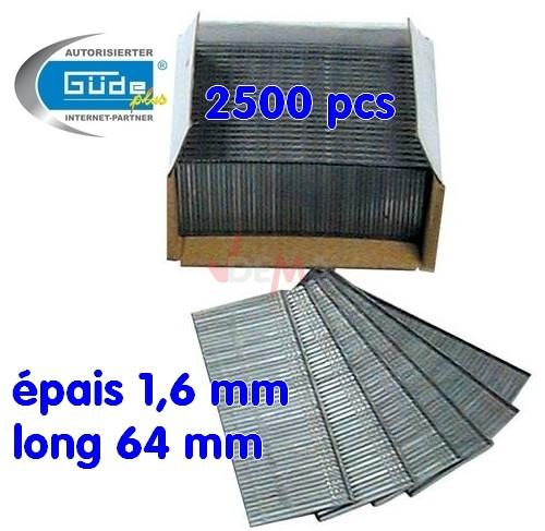 Clous 64 mm - Lot de 2500 - Long 64 mm