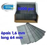 Clous 64 mm - Lot de 2500 - Long 64 mm pour cloueuse G40205