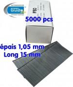 Pointes à tête pour cloueur 15 mm - pour cloueuse G40212 G40402 G40220