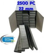 Agrafes 22 mm - Epaisseur de 1,25 mm - 2500 pièces