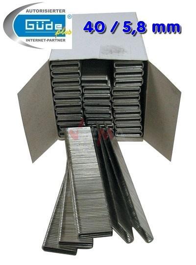 Agrafe 40 mm pour cloueuse Larg 5,8 mm - lot de 2500