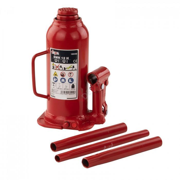 Cric bouteille 12 T hydraulique uniquement usage vertical
