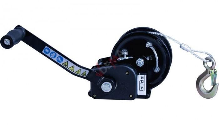 Treuil manuel manivelle freinée 720 kg  - 20 m