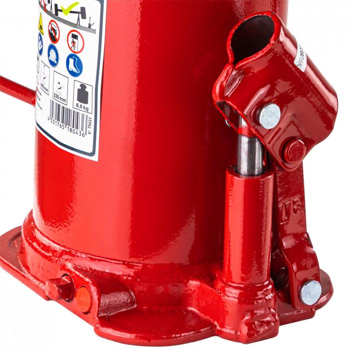Cric bouteille hydraulique 20 T hauteur maxi 457 mm