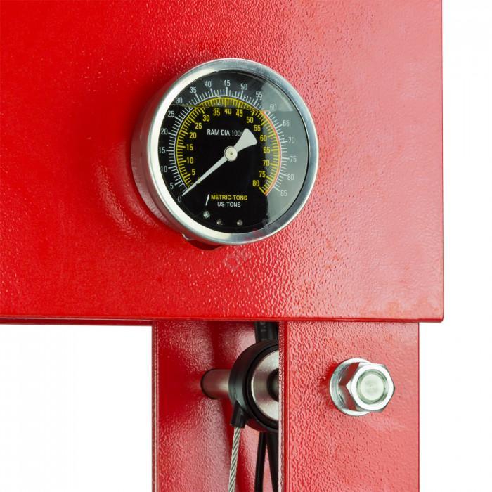 Presse d'atelier hydraulique 50 Tonnes - WP 50 HM - avec manomètre