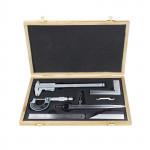 Coffret 6 outils de mesure de précision pied à coulisse micromètre etc