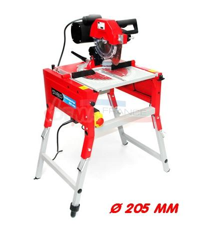 Scie radiale r versible scie table lame 205 mm - Scie a onglet sur table reversible ...