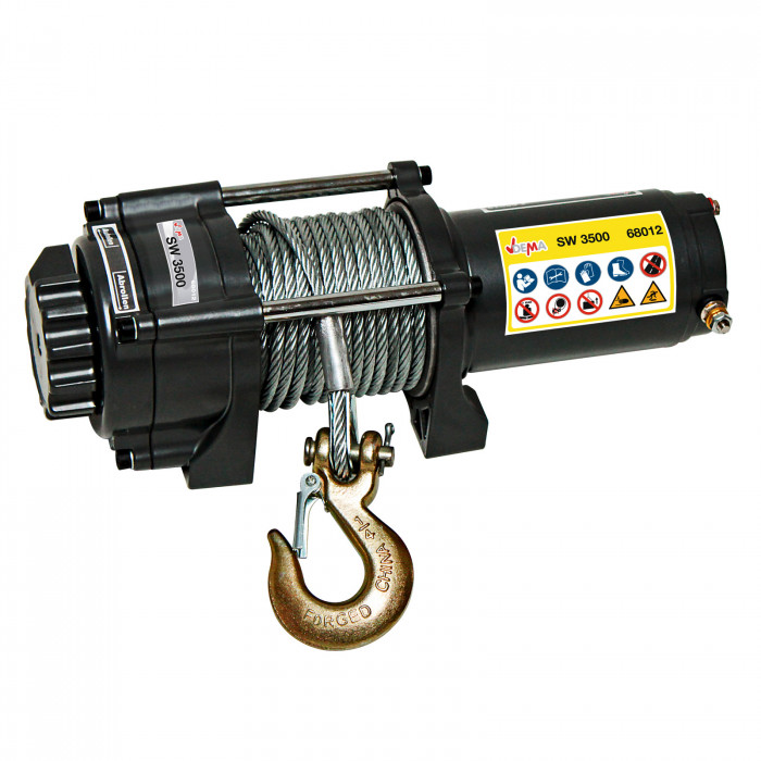 Treuil SW 3500 - 1,6 T pour quad - 12 V