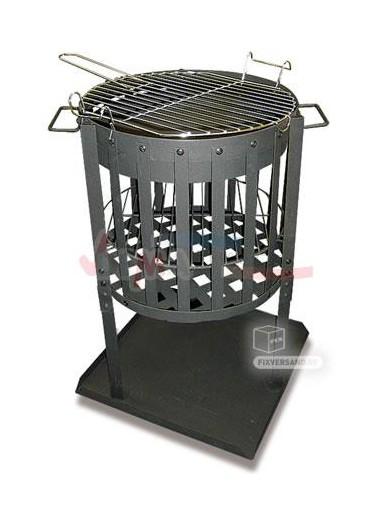 """Brasero à bois - source de lumière - grille Barbecue """"Madrid"""""""