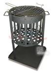 Brasero à bois - source de lumière - grille Barbecue