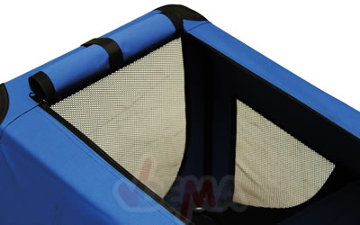 Niche de transport chien - chat - bleu - XL 810 x 584 x 584  mm