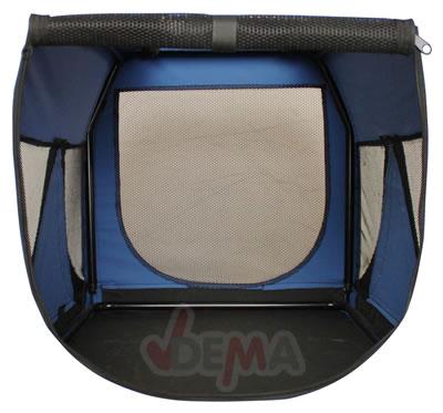 Niche de transport chien - chat - bleu - XL 810 x 584 x 584  mm