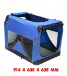Niche de transport chien - chat - XXL - 910 x 630 x 630  mm