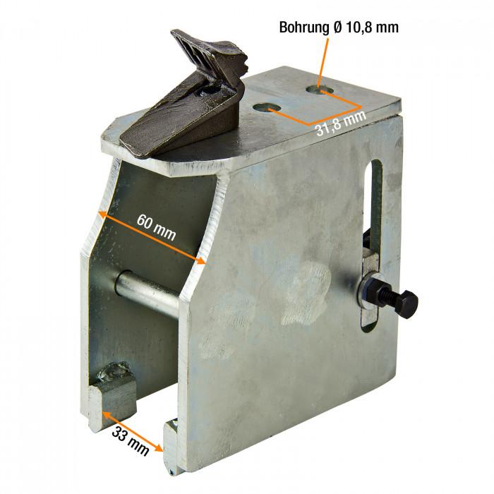 """Griffes adaptateur jantes moto jusqu'à 23"""" - 4 pces - D18021 + D18059"""