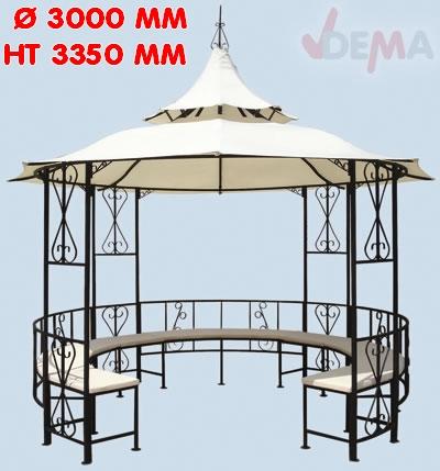 Tonnelle - Pavillon romatique de jardin - diam 3 m