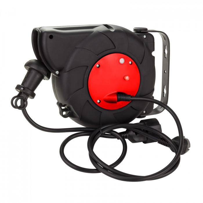 Enrouleur automatique câble électrique H05VV-F 3G  3x1,5 mm² 10 m