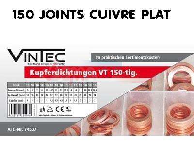 Assortiment Joints cuivre en coffret 150 pièces