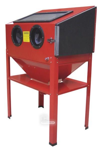 Set - Compresseur bi-cylindre 380 V + Cabine de sablage 220 L