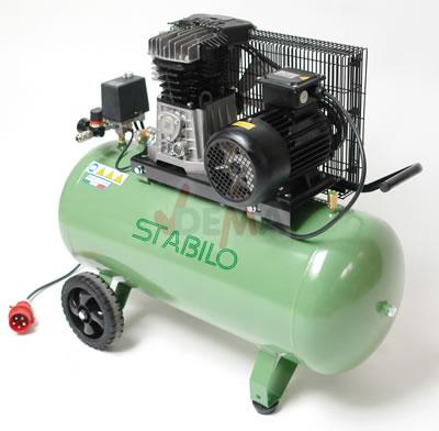 Set - Compresseur bi-cylindre 380 V + Cabine de sablage 340 L