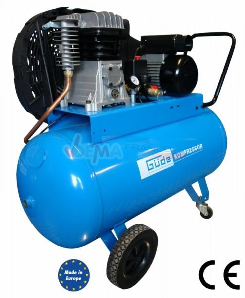 SET - Compresseur GÜDE bi-cylindre  230 V + Cabine de sablage 220 L