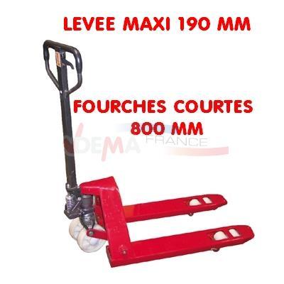 Transpalette 2 Tonnes - Fourches courtes 800 mm