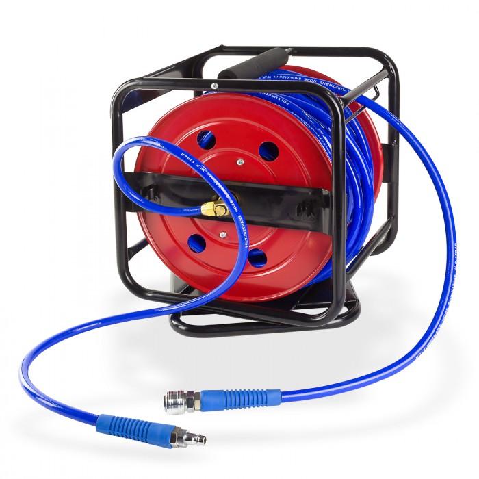 Enrouleur air comprim 30 m 8 x 12 mm pivotant sur la base - Enrouleur air comprime ...