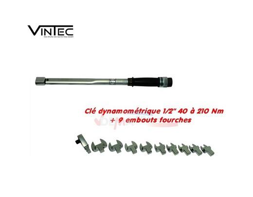 """Clé dynamométrique 1/2"""" - 40-210 Nm - VT210 - VINTEC"""