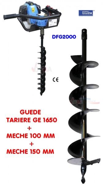 Tarière thermique mèches de 100 + 150 mm