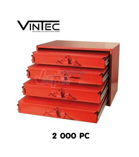 Coffre de rangement - 4 tiroirs - 2000 pièces