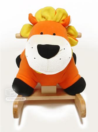 Cheval à bascule Lion orange avec son bébé - hauteur selle 300 mm