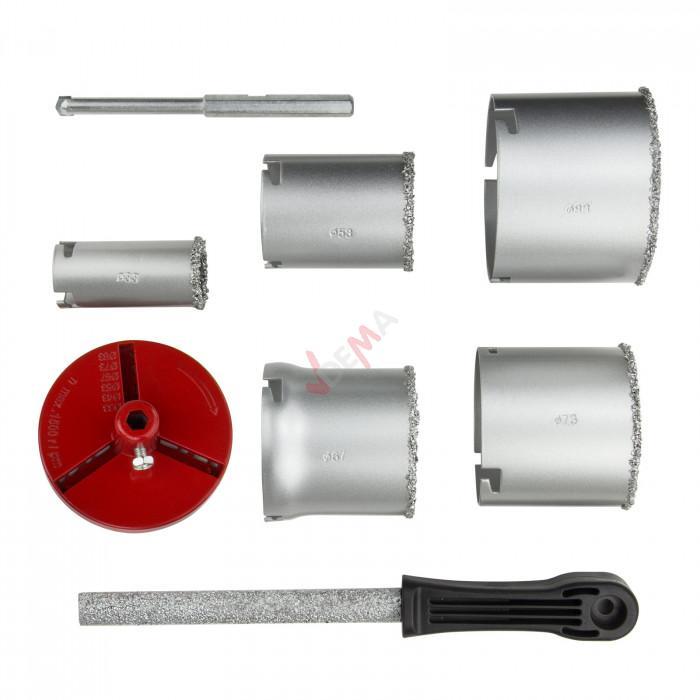 Scie cloches - Coffret de 8 PC - profondeur de coupe 55 mm