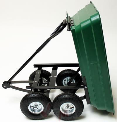 Remorque benne basculante 75 L 250 kg pneus 80 mm chariot de jardin ...