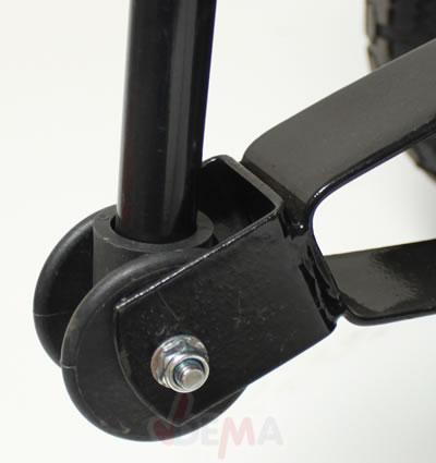 Remorque benne basculante 75 L 250 kg pneus 80 mm jardin NEUF -