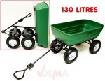 Remorque benne basculante  - XL - 130 L - Chariot de jardin