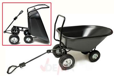 Remorque benne basculante XXL - 140 L - Chariot de jardin - Plein ...