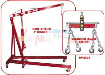 Set - Balancier levage - 750 kgs + Grue levée 2 Tonnes