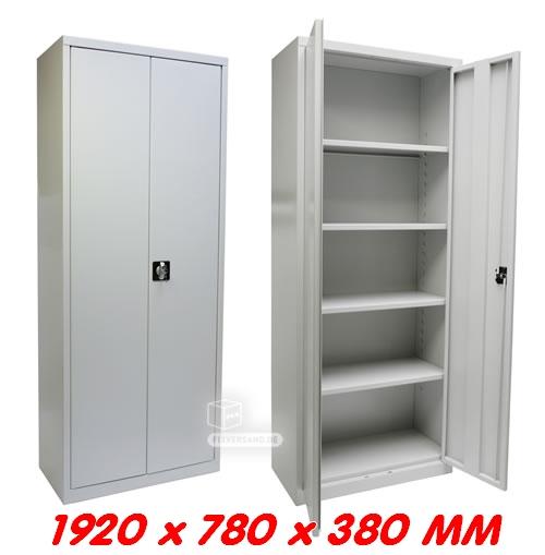 Armoire pour classeur grise thermolaquée 78 x 38 x 192 cm 4 étagères