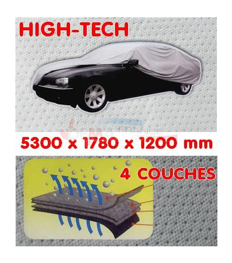 Bache Garage Auto - Haute Technologie 4 couches - Long 5330 mm
