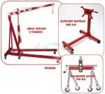 Set - Grue 2 T + Balancier 750 Kg + Support Moteur 450 Kg