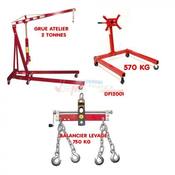 Set - Support Moteur 570 kg + Grue 2 T - Balancier 750 kg