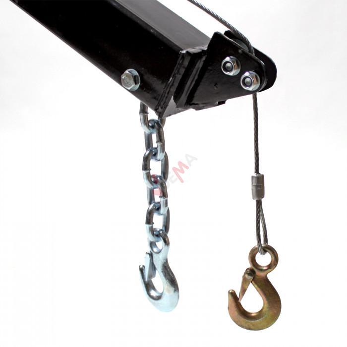 Grue Hayon Pick-Up - avec treuil 900 kg - bras réglable 300 à 900 kg
