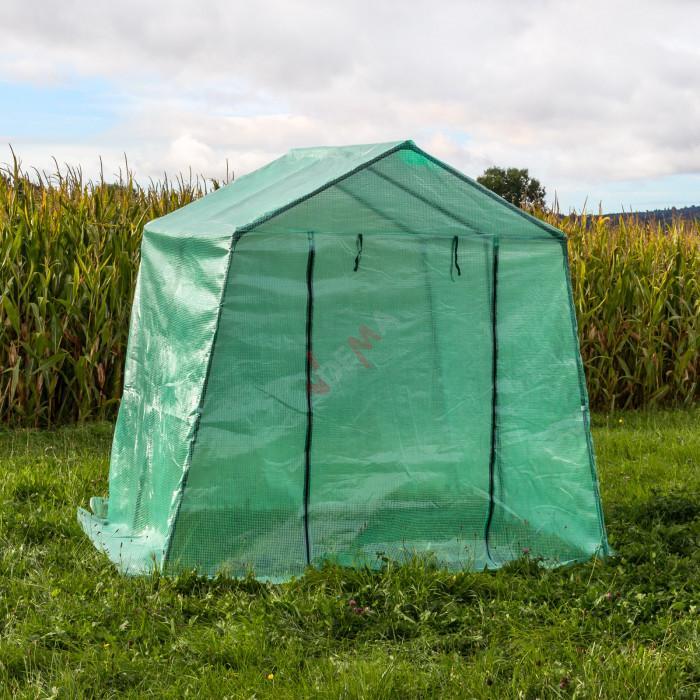 Serre de jardin 5 m2 b che plastique renforc e jardin for Bache plastique pour serre de jardin