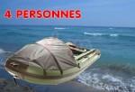 Bateau semi rigide - 4 personnes - plancher alu - Catégorie C