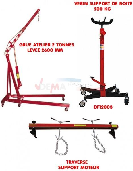 Set - Grue Atelier 2 T - Support de boite - Traverse