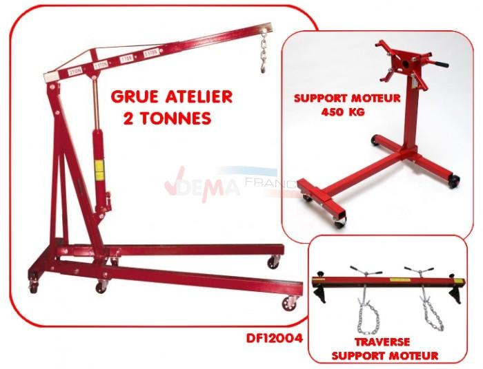 Set - Grue Atelier 2 T - Support moteur 450 kg - Traverse