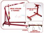 Set - Grue Atelier 2 T - Support moteur 450 kg - Traverse