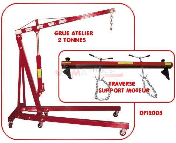 Set - Grue Atelier 2 T  - Traverse support moteur