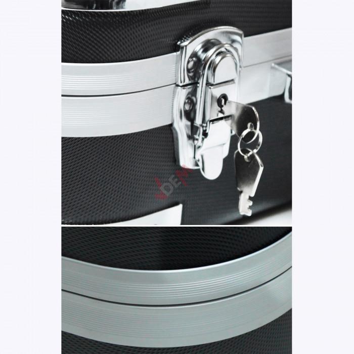 Valise compartimentée mousse rigide/métal - munitions / outillage