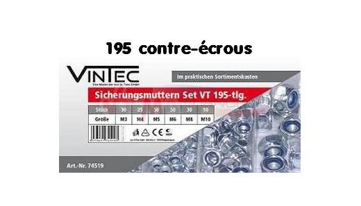 Assortiment 195 contre-écrous NILSTOP VT195